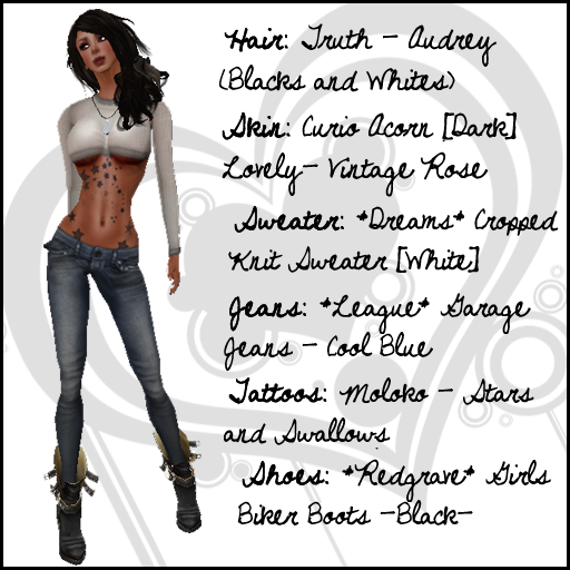 Jeans: *League* Garage Jeans – Cool Blue Tattoos: >>Moloko<< Stars and